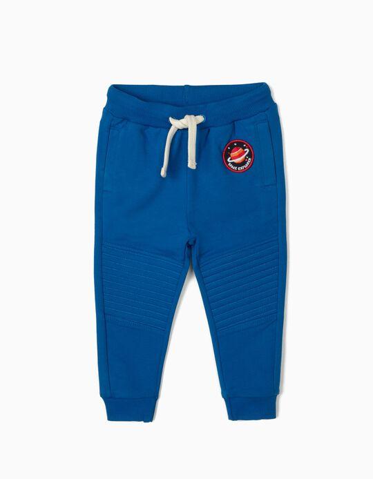 Pantalon de sport bébé garçon 'Space Explorer', bleu
