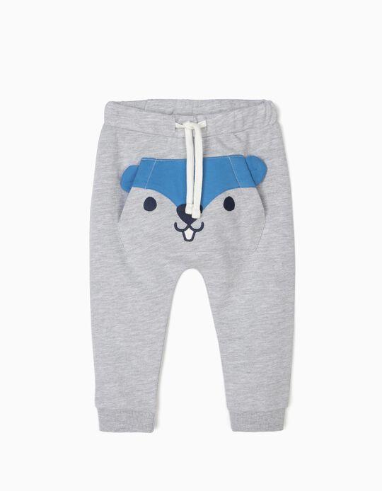 Pantalón de Chándal para Bebé Niño 'Beaver', Gris