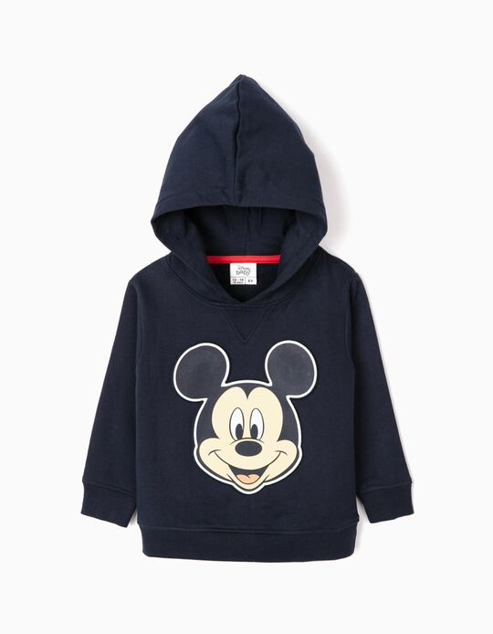 Hoodie for Baby Boys 'Mickey', Dark Blue