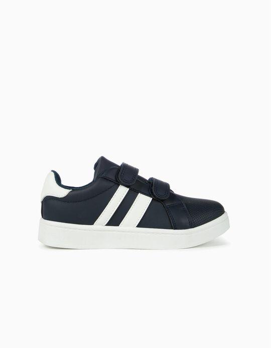 Zapatillas para Niño 'ZY', Azul Oscuro y Blanco