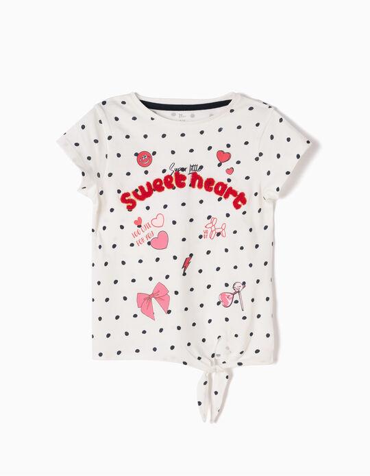 Camiseta de Lunares y Lacito Sweet Heart