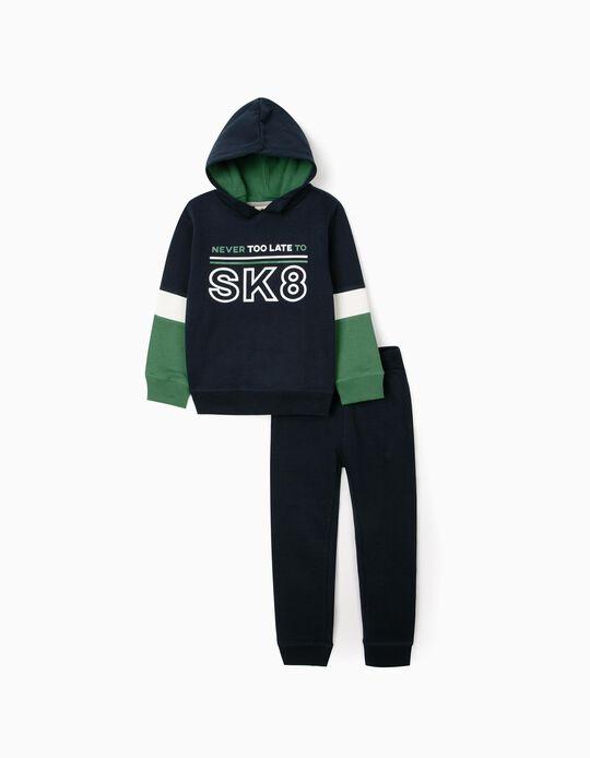 Fato de Treino para Menino 'SK8', Azul Escuro