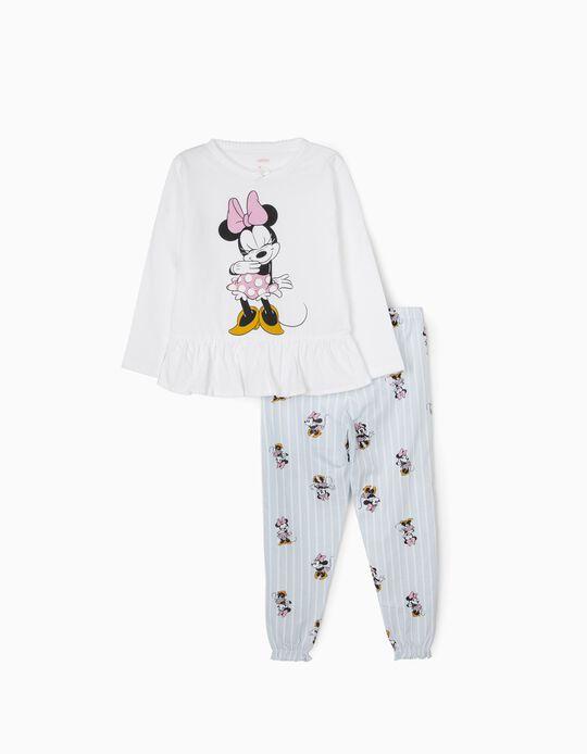 Pijama para Niña 'Minnie', Blanco/Azul