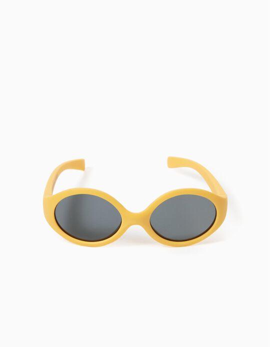 Lunettes de soleil flexibles bébé, jaune