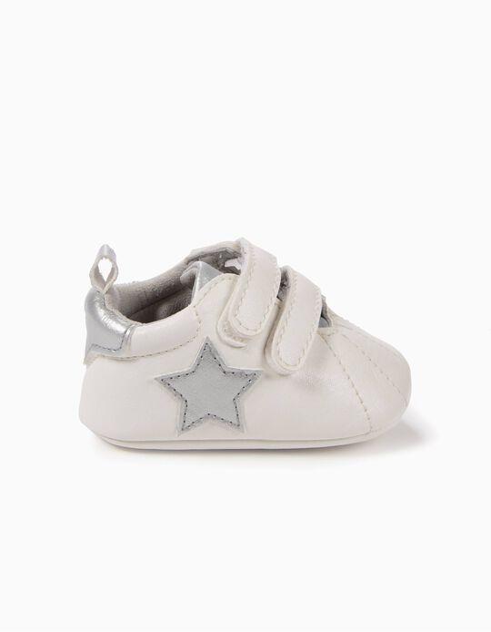 Sapatilhas Pre-Walker Estrelas Prateadas