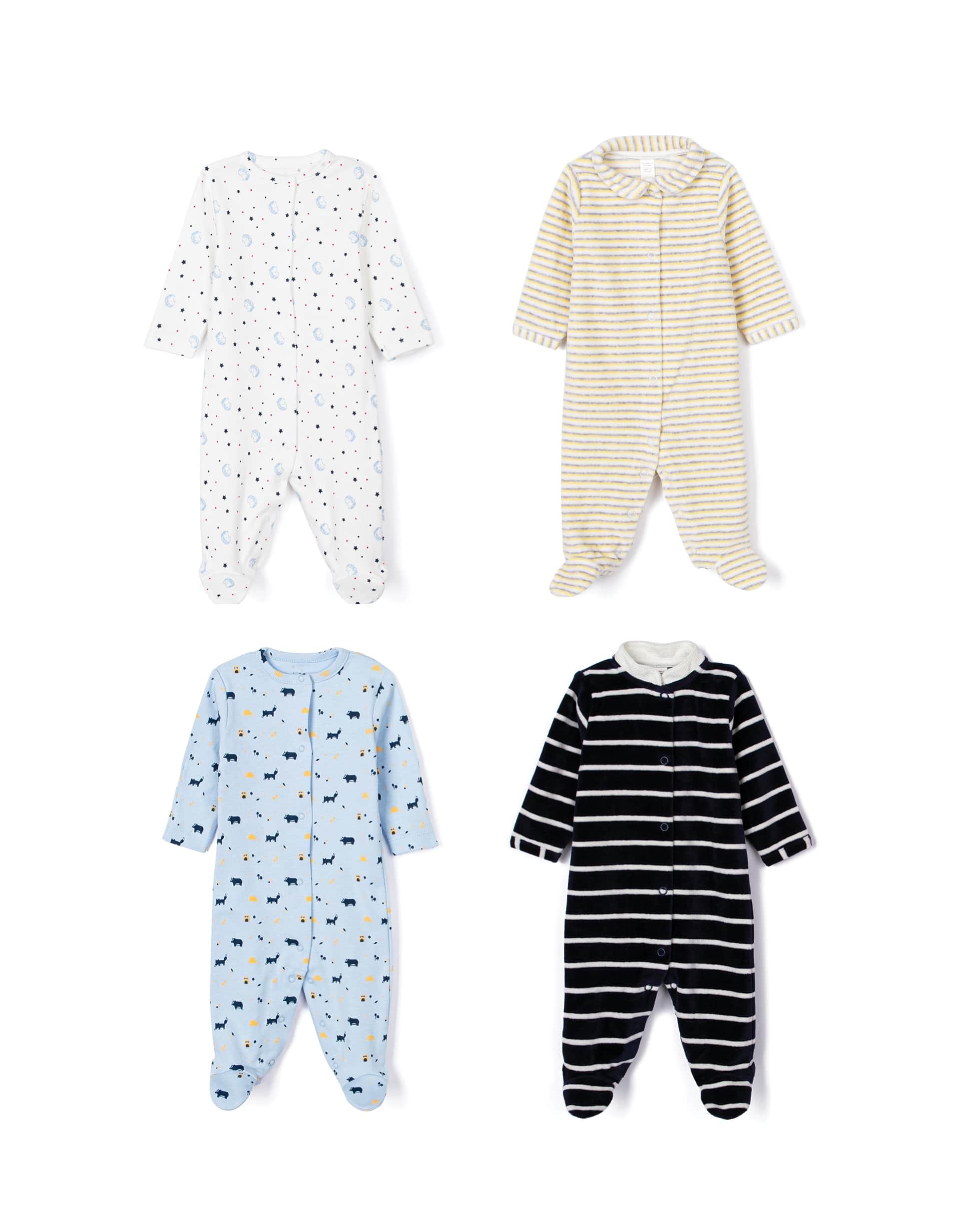 4 Babygrows para Recém-Nascido