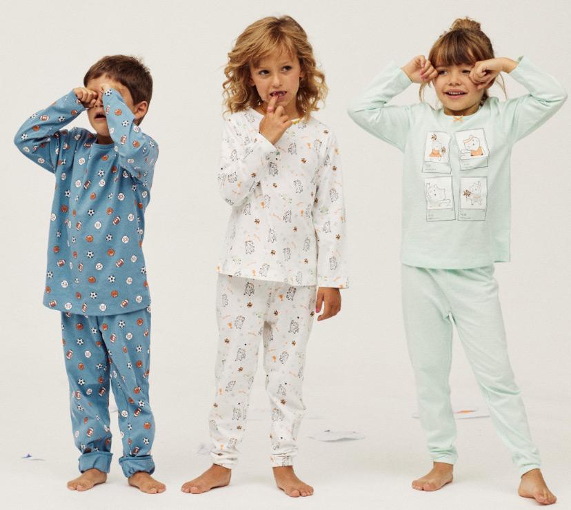 pijamas criança e bebé