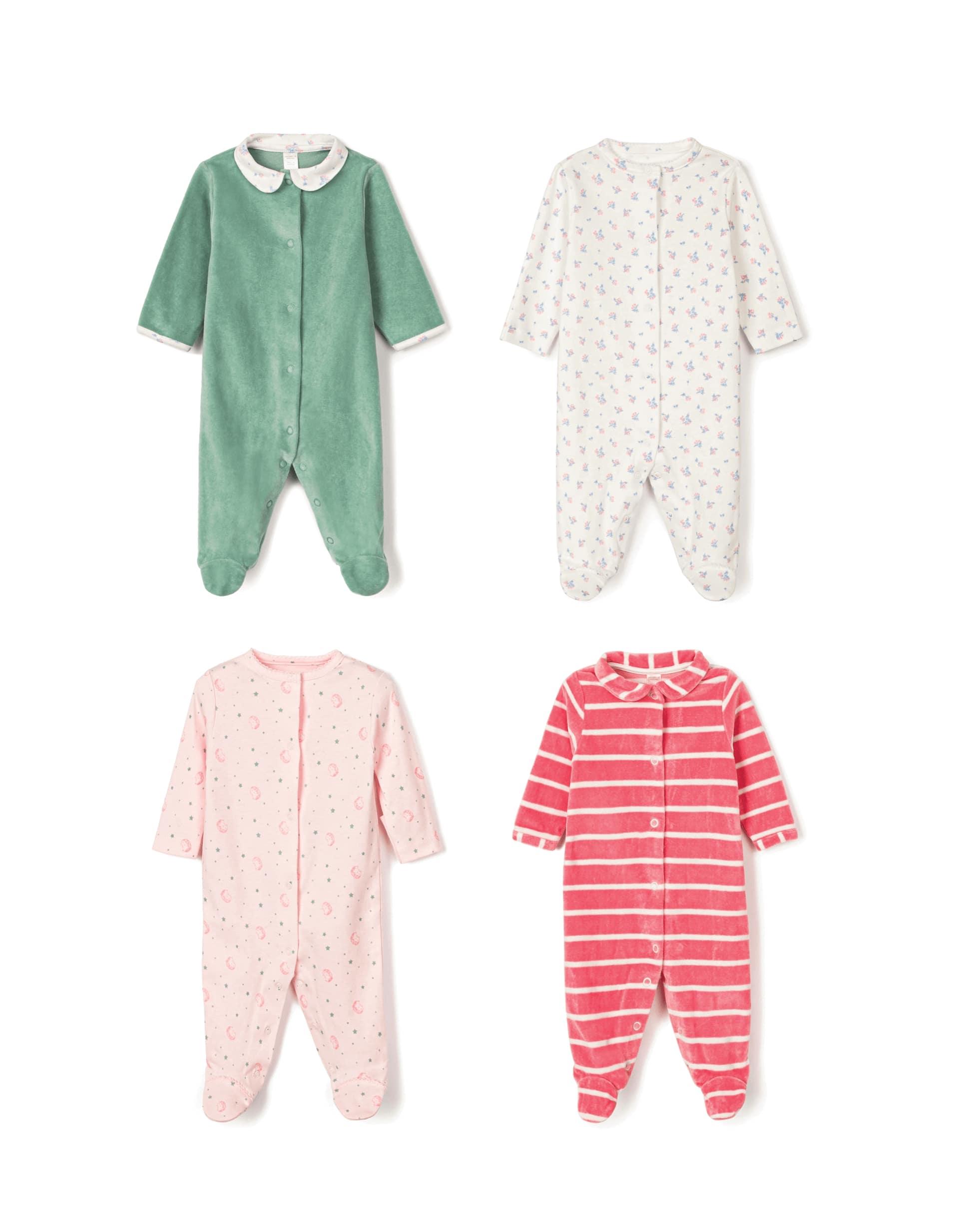 4 Babygrows para Recém-Nascida