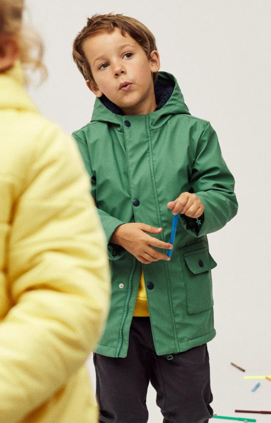 parkas y abrigos para niño