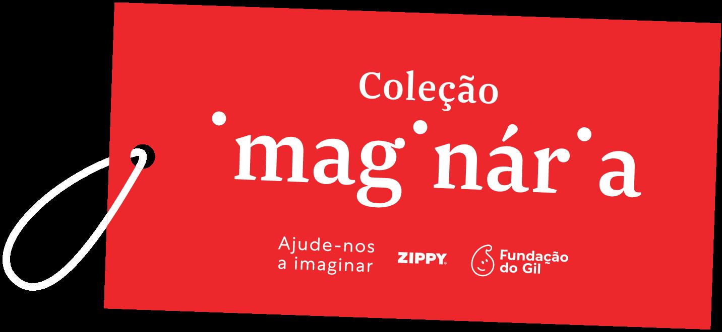 Etiqueta Coleção Imaginária Zippy x Fundação do Gil