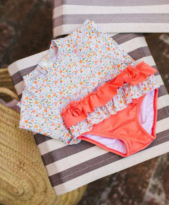colección playa praia bebé niña