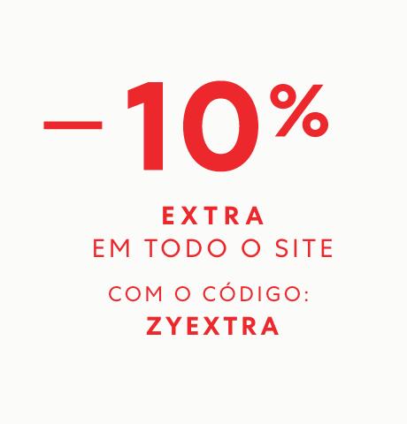 10% EXTRA em todo o site