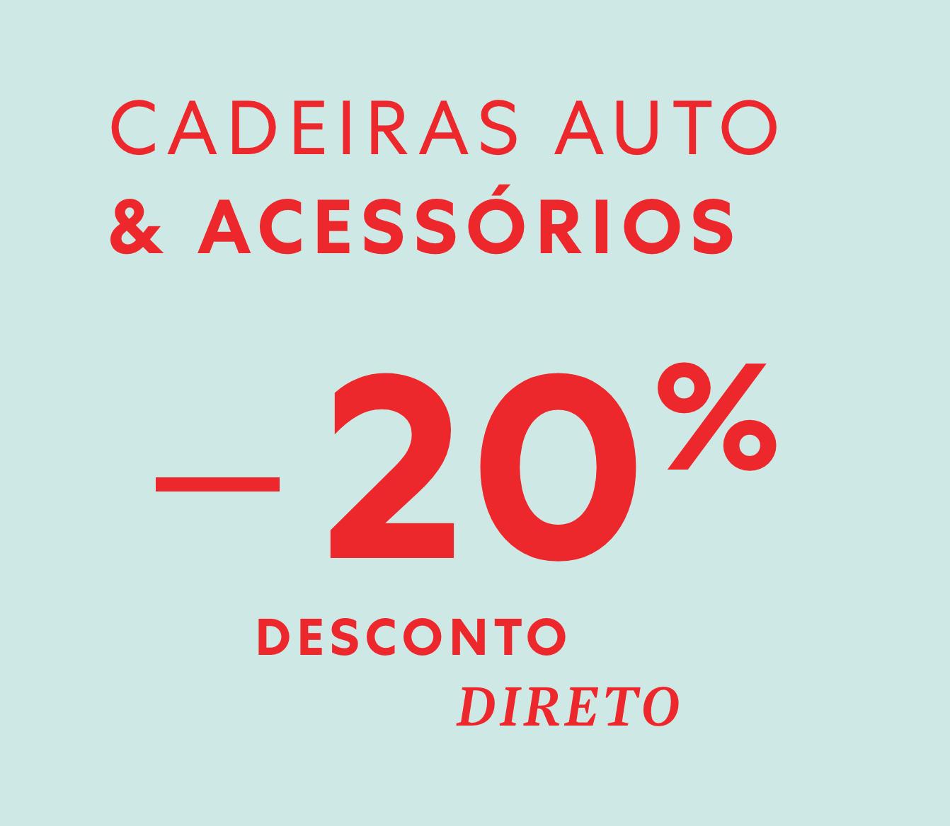 20% desconto em cadeiras auto e acessórios | Zippy Online