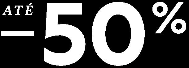 Saldos até -50% desconto